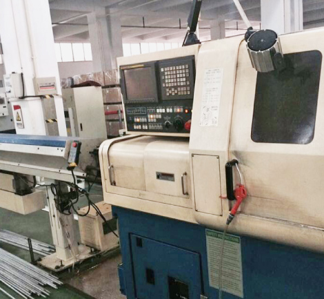 Five axis CNC lathe (Swiss type)